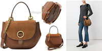 Michael Kors Womens Crossbody Bag Isadore Medium Top Handle Messenger Bag Brown