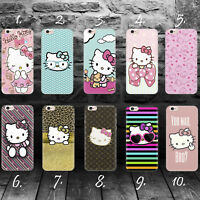 HELLO KITTY A SILLY CAT iPhone 4 4s 5 5c 5s SE 6 6s 7 8 plus case cover