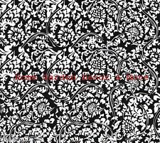 Black & White Toile Vinyl Contact Paper Roll Shelf Drawer Liner Peel Stick
