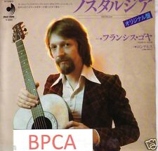"MEGA RARE 7"" JAPAN PROMO NOSTALGIA FRANCIS GOYA WITH OVATION GUITAR ON COVER"