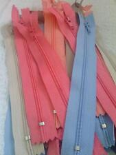 "Assorted wholesale mix lot of 50 different colors nylon zippers 6"" US SHIPPER"