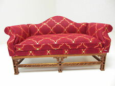 Dollhouse Miniatures Furniture 1/12: 1130rf15-wn Upholstered Walnut Couch