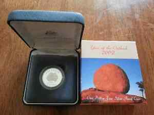 2002 ROYAL AUSTRALIAN MINT YEAR OF OUTBACK 1 DOLLAR SILVER PROOF COIN