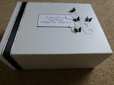 Condolence Bereavement Large Personalised Keepsake Box Memory Box Funeral Black