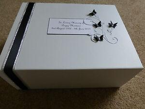 Condolence Bereavement Extra Large Personalised Keepsake Box Memory Funeral