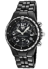 New Womens Technomarine TCB02C Chronograph Black Ceramic Bracelet Watch