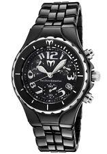 New Womens Technomarine TCB02C Chronograph Black Ceramic Bracelet Watch