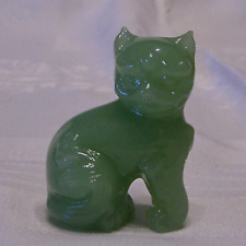 Franklin Mint Curio Cabinet Cats Ching Dynasty Kitty Figurine Jadite Glass