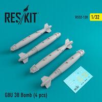 GBU 38 Bomb (4 pcs) (Resin Upgrade set) 1/32 ResKit RS32-0120