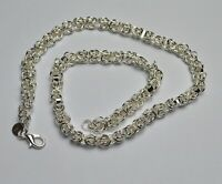 "Unisex 925 Sterling Silver Plated 20"" Chunky Chain Necklace UK 005"