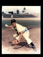 Don Zimmer PSA DNA Coa Hand Signed 8x10 Dodgers Photo Autograph