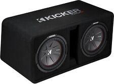 "Kicker 43Dcwr102 Car Dual/Pair 10"" Subwoofers Loaded Vented Enclosure/Box 2-Ohm"