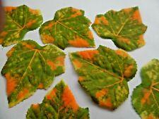 25 QUALITY LARGE 8CM  Fall Silk Leaves Wedding Favour Autumn Maple Leaf Decor