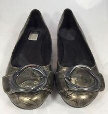 98924696aa3 Dr Scholls Women s Flats Ballet Buckle Feel Crazy Good Gold Pattern Size 5M