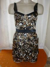 Lipsy Dress Size 8 BNWT RRP £60 'Blaze' Black Gold Silver Party Wedding NEW