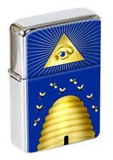 Beehive Masonic Symbol Flip Top Lighter