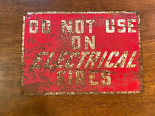 """Vintage Firefighting Sign, Collectible 
