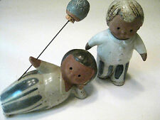 "Two Vintage Fitz & Floyd Japan "" Boys at Play""Figures 5 inches Euc"