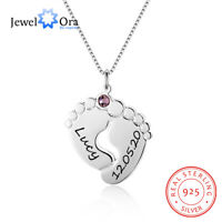 Custom Mother Necklace Baby Name Birthstone Pendant Chain Women Charm Mom Gift