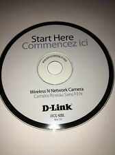 D-Link DCS-930L Wireless N Network Camera CD P/N:651CS930L015G-TESTED FAST SHIP