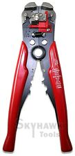 "8"" Self Adjusting Wire Stripper Cutting Pliers Electrician Copper Aluminum Tool"