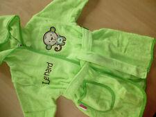 Bademantel Gr. 98-104 für Kinder Kleinkinder Babys mit Motiv und Namen bestickt