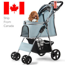 Pet Stroller Foldable Carrier for Cat, Dog and More 4 Wheels Travel Jogger