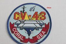 Insigne tissus à coudre de l'USS CORAL (Porte Avions Américain dissous en 1990)