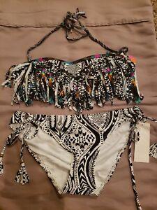 Raisins Medium Mojave Bandeau W Sweet Pea Pant 2 Piece Swimsuit