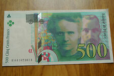 500 FRANCS PIERRE ET MARIE CURIE 1998 NEUF PRIX POUR 1 UNITé 3 DISPONIBLES