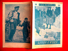 MEN AND WOLVES 1957 SILVANA MANGANO YVES MONTAND DE SANTIS EXYU MOVIE PROGRAM