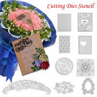 Metal Floral Frame Cutting Dies Stencils Greeting Card Album Embossing Craft DIY