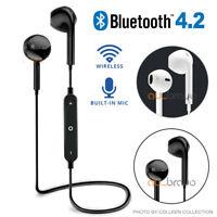 Wireless BT 4.2 Headset Earphone Sport Headphone Mic for iPhone Samsung CD