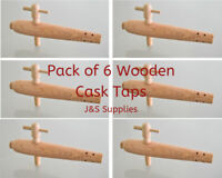 "Pack of 6 Wooden Barrel Taps / 7"" Perforated Spigot / Cask Ale Tap Beer Festival"