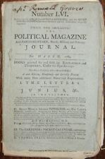 1784 POLITICAL MAGAZINE Parliamentary Military Journal LIBERTY CONSTITUTION &c.