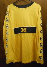 Michigan Wolverines Big House Football Vintage Yellow Shirt Medium Reebok USED