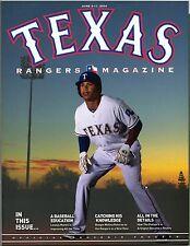 2014 Texas Rangers Program Leonys Martin Volume 43 No. 5 Seattle Mariners