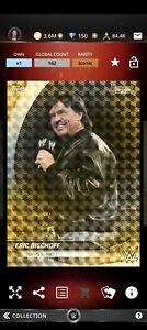Topps WWE SLAM Digital 2021 Bowman's Best Gold Refractor Eric Bischoff 162CC