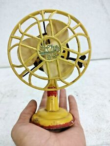 OLD VINTAGE RARE LITHO-PRINT HERO TOYS TIN FAN TOY WITH KEY, JAPAN COLLECTIBLE