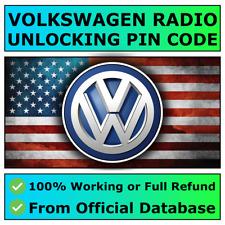 Volkswagen VW Radio Code Service RCD510 500 310 300 215 210 Beta Gamma Fast ✅