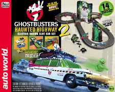 Auto World SRS317 Ghostbusters Haunted Highway 2 HO Scale Slot Car Race Set