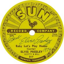 SUN ELVIS PRESLEY BABY LETS PLAY HOUSE VINYL STICKER SIGNED AUTOGRAPH ,,,;