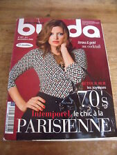 MAGAZINE BURDA INTEMPOREL LE CHIC A LA PARISIENNE RETOUR 70'S  N°107  2008