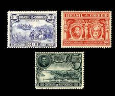 Brazilian Independence 1922 Michel 245-7 Sn 260-2 Yvert 183-5 Sg 432-4 RHM 14-16