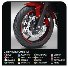 cerchi ruote moto strisce adesive per DUCATI YAMAHA SUZUKI KAWASAKI HONDA BMW