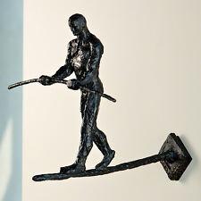 Modern Man Balance Wall Sculpture | Iron Art Contemporary