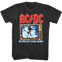 ACDC Blow Up Your Video Men's T Shirt Concert Tour Rock Band Angus Young Music