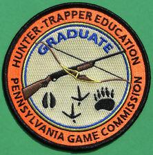 Pa Pennsylvania Game Fish Commission Hunter - Trapper Education Graduate Patch