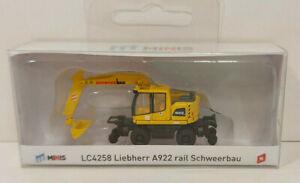 Lemke Minis LC4258 Liebherr A922 rail Schweerbau , Spur N, 1:160, NEU