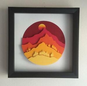 Tree Mountain Sun Metal Cutting Dies for Scrapbooking Craft Die Cut Card Stencil
